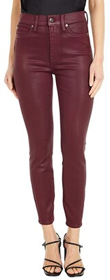 7 For All Mankind High-Waist Ankle Skinny in Merlot Coated (Merlot Coated) Women's Jeans