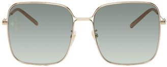 Gucci Gold Oversized Square Sunglasses