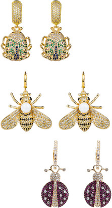 Eye Candy Los Angeles Eye Candy La Olivia Cz Crystal Honey Bee Earring Set