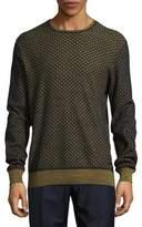 HUGO BOSS Cotton Mesh Net Sweater