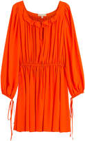 Michael Kors Draped Silk Dress