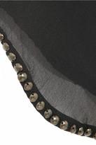 Isabel Marant Purdie studded silk-georgette top