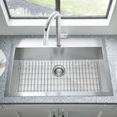 """American Standard Edgewater 33"""" L x 22"""" W Drop-In Kitchen Sink with Grid and Drain American Standard"""