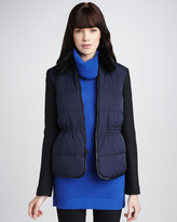 Theory Fur-Collar Puffer Jacket