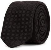 Dolce & Gabbana Black Check-jacquard Silk Tie