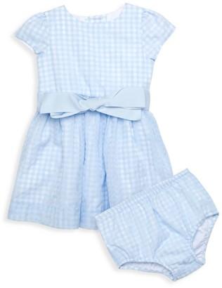 Ralph Lauren Baby Girl's 2-Piece Windowpane Plaid Fit-&-Flare Dress & Bloomers