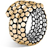 John Hardy 18K Yellow Gold and Sterling Silver Dot Double Coil Ring