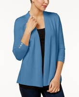 Charter Club Petite Open-Front Cardigan, Created for Macy's