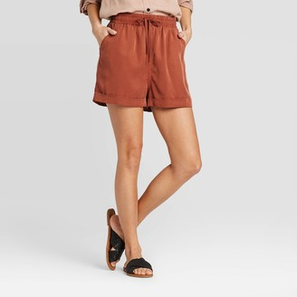 Universal Thread Women's Mid-Rise Tie-Front Utility Shorts - Universal ThreadTM