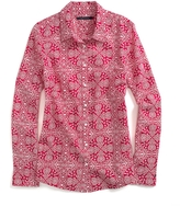 Tommy Hilfiger Final Sale-Long Sleeve Paisley Shirt