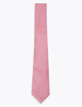 Marks and Spencer Pure Silk Spot Tie & Handkerchief Set