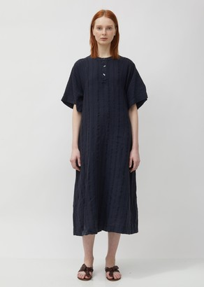 Pas De Calais Textured Linen Dress