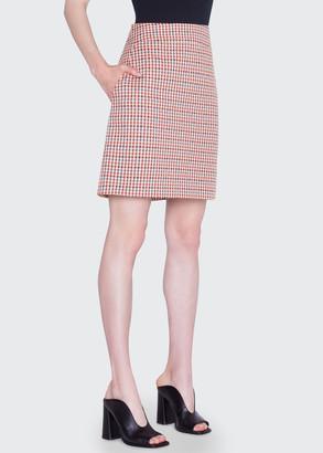 Akris Punto Houndstooth Jacquard Cotton Skirt