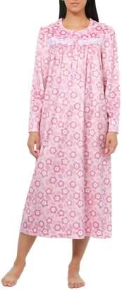 Jasmine Rose Floral Long-Sleeve Nightgown