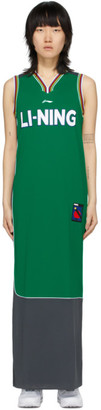 Li-Ning Green and Grey Jersey Long Dress