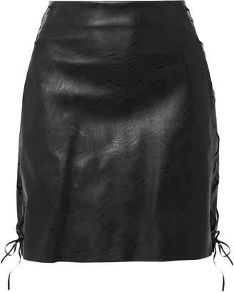 Stella McCartney Lace-up Faux Leather Mini Skirt