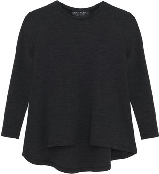 Lindsay Nicholas New York Crew Neck Sweater In Charcoal Gray