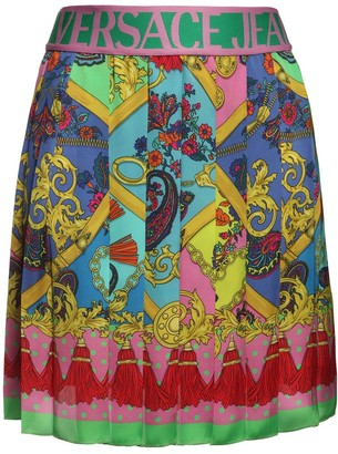 Versace Jeans Couture Printed Stretch Jersey Mini Skirt