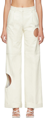 Off-White White Leather Meteor Formal Pants