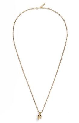 Degs & Sal Skull Pendant Necklace