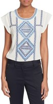 Veronica Beard Women's 'Baja' Flutter Cap Sleeve Top