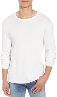 Frame Waffle Knit Slim Fit Cotton Crew Neck Shirt