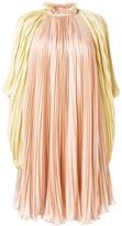 Alberta Ferretti pleated high-neck dress