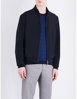 Armani Collezioni Exposed-zip Wool-blend Bomber Jacket