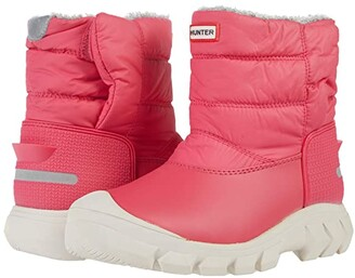Hunter Original Snow Boots (Little Kid/Big Kid) (Bright Pink) Girls Shoes