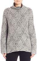 Joie Nakendra Diamond Pattern Turtleneck Sweater
