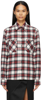 Off-White Red Allover Check Arrows Shirt