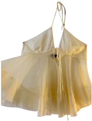 Wunderkind Ecru Cotton Top for Women Vintage