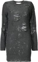 IRO distressed sweater dress - women - Cotton/Polyester/Rayon - S