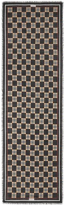 Burberry Chequer-print fringed scarf