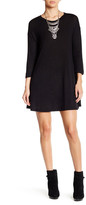 Angie 3/4 Length Sleeve Lightweight Sweater Dress