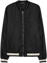 Dolce & Gabbana Black Shell Bomber Jacket
