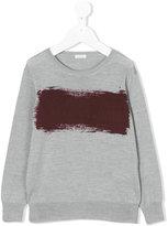 Il Gufo paint print sweater - kids - Wool - 2 yrs