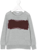 Il Gufo paint print sweater