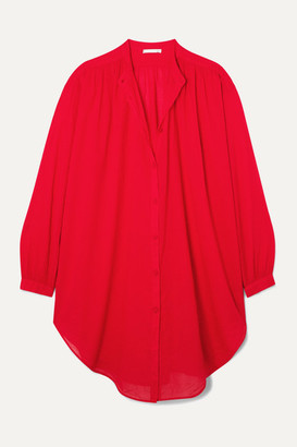 Skin Brea Oversized Cotton-voile Kaftan - Red