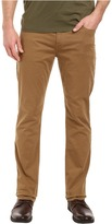 Paige Normandie Slim Straight Leg Brushed Japanese Cotton in Dark Fawn