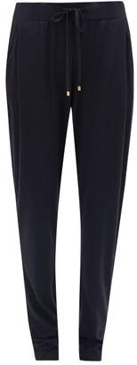 Hanro High Rise Cotton Blend Jersey Pyjama Trousers - Womens - Navy