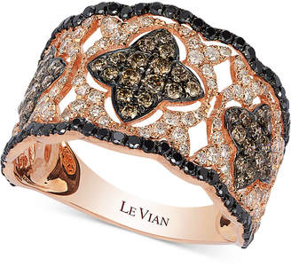 LeVian Le Vian Diamond Vintage-Inspired Ring in 14k Rose Gold (1-1/3 ct. t.w.)