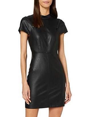 Armani Exchange Women's Eco Leather Zip Dress,X-Small (Size: 2)