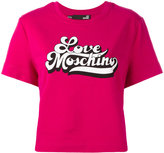 Love Moschino short-sleeve T-shirt with logo branding - women - Cotton/Spandex/Elastane - XS