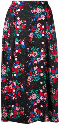 Marc Jacobs Buttoned Floral Skirt