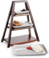 Hotel Collection 3-Tier Wood Server with Porcelain Plates, Created for Macy's