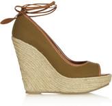 Sergio Rossi Canvas wedge sandals
