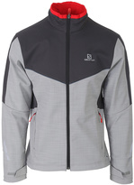Salomon Dove Gray & Asphalt Pulse Softshell Jacket - Men