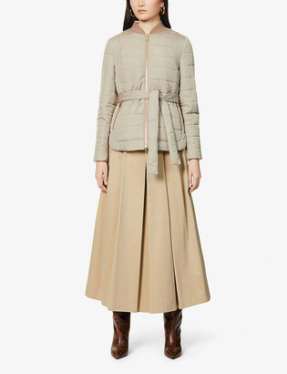 Brunello Cucinelli Belted quilted shell jacket