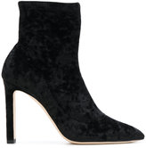 Jimmy Choo Louella 100 boots - women - Leather/Suede/Polyamide - 36